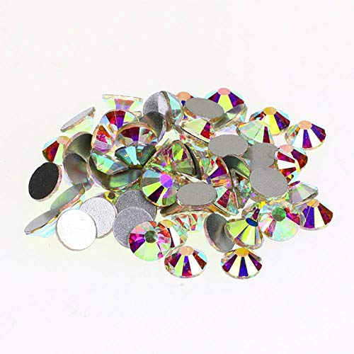 Kristal AB Strass Nagel Art decoraties Flatback Niet Hotfix Lijm op Kristallen en Stenen Strass Steentjes Applique voor Kleding ss8 crystalAB101