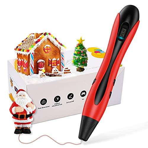 Dreamingbox Regalo Niña 6-15 Años, Lapiz 3D DIY Juguetes para Niñas de 6 7 8 9 10 11 12 Años Regalos de Cumpleaños para Niños 6-12 Años Juguetes Niño 6-15 Años Regalos Niña Navidad 2020 Rojo