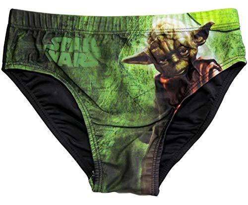 Star Wars Badehose Jungen Yoda (Grün-Schwarz, 128-134)