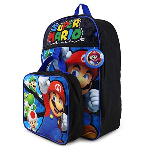 Armycrew Officially Licensed Super Mario Assorted Backpack 5 Piece Set - Royal 5Piece