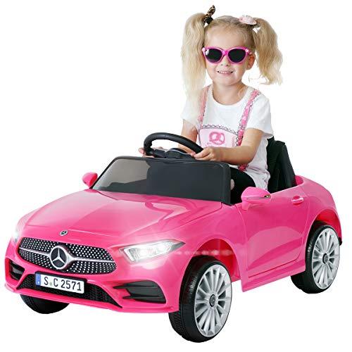 Actionbikes Motors Kinder Elektroauto Mercedes Benz CLS 350 - Lizenziert - Rc 2,4 Ghz Fernbedienung - Led - Soundmodul - Elektro Auto für Kinder ab 3 Jahre - Kinderauto Spielzeug (CLS 350 Pink)