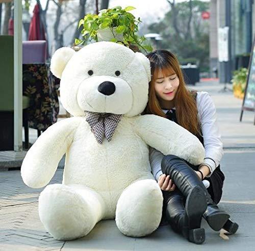 Cjwdxxnh 140CM to 200CM Cheap Giant unstuffed Empty Teddy Bear Bearskin Coat Soft Big Skin Shell Semi-Finished Plush Toys Soft Kid Doll White 180cm