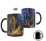 Morphing Mugs Thomas Kinkade Disney's Beauty and the Beast Dancing in the Moonlight Painting Heat Reveal Ceramic Coffee Mug - 11 Ounces