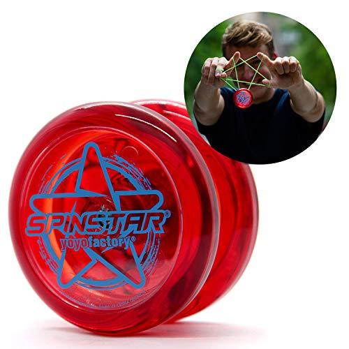YoyoFactory SPINSTAR Yo-Yo - ROT (Ideal für Anfänger, Moderne Leistung YoYo, Freistil Yoyoing Tricks, Schnur und Anleitung Enthalten)