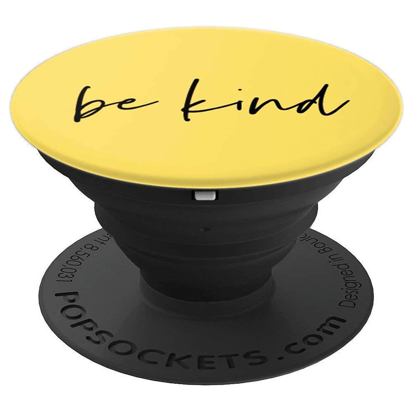 Be Kind - Inspirational and Motivational Quote in Yellow - PopSockets Grip and Stand for Phones and Tablets