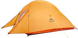 Naturehike Cloud-Up 1, 2 and 3 Person Lightweight Backpacking Tent with Footprint - 4 Season Free Standing Dome Camping Hiking Waterproof Backpack Tents