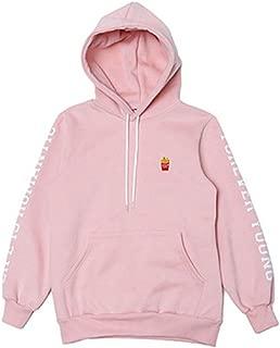 Chic Dona JIN Cap Hoodie Sweatershirt Bangtan Boys Pink Color Pullover EXID HANI Sweatshirts bts Gift (Jin Finger Ring)