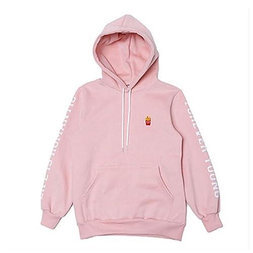 f07d86d6dbec Chic Dona JIN Cap Hoodie Sweatershirt Bangtan Boys Pink Color Pullover EXID  HANI Sweatshirts bts Gift