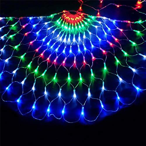ALALA Peacock Schnur Netto-Licht, Im Freien Wasserdichten 3M Dekoration LED-Lichterketten for Baum-wrap Hinterhof Zaun Balkon Im Freien Weihnachtsbaum Gartendeko (Size : 3M)
