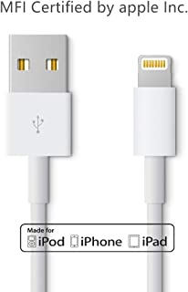 Uelkdef Lightning to USB Cable Apple Charger - Apple MFi Certified iPhone Charger Cable for iPhone X/8/7/SE/6s/6/plus/5s/5c,iPad Pro/Air/Mini,iPod Touch,Certified by Apple(White 3.33FT)