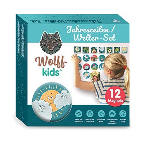 Wolff kids Wochenplaner Kinder Wetter-Set, Tagesplan Kinder,Kinder Kalender,mein erster Kalender für Kreidetafel, erstes lernen, adhs,Kindererziehung
