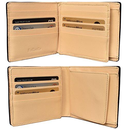 『[ラファエロ] ブライドルレザー 二つ折り財布 メンズ (チョコ)』の6枚目の画像