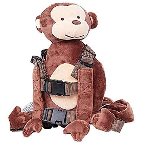 Oaisij Cinturón de Seguridad para niños, cinturón de Seguridad para niños Que Caminan, Mochila antipérdida, Bolsa para cinturón, Bolsa de Dibujos Animados con cinturón