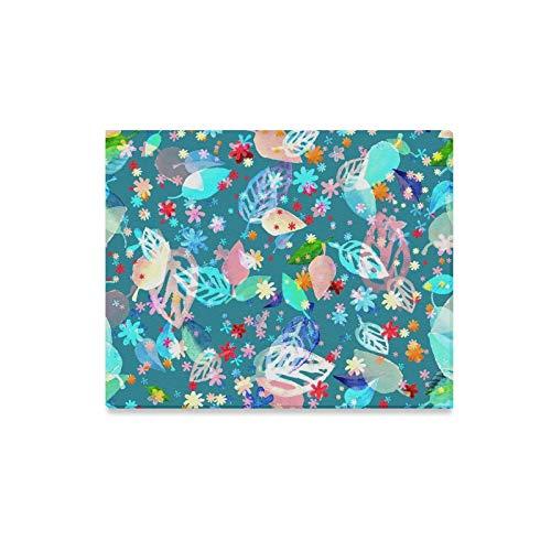 JOCHUAN Mur Art Peinture Bleu Feuillage Imprime sur La Toile l'image Paysage Photos Huile pour La Maison Moderne Décoration Imprimer Décor pour Le Salon