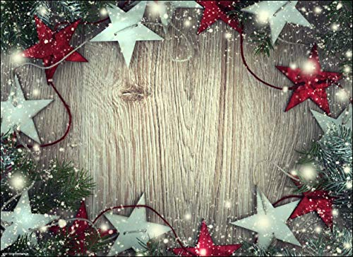 Tischsets I Platzsets - Weihnachtssterne in rot und Silber - 12 Stück in toller Aufbewahrungsmappe - Die besondere Tischdeko für Weihnachten und Jede Weihnachtsfeier.