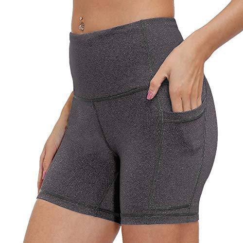 LastFor1 - Yoga-Shorts für Damen in 12,7 Cm, Dunkelgrau, Größe S