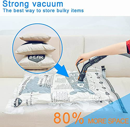 Space Saver Bags (3 Jumbo, 3 Large, 3 Medium) Vacuum Storage Sealer Bags for Blankets Clothes Pillows Comforters with Hand Pump - 9 Combo