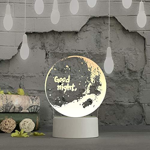 OSYARD 3D LED Licht Nachtlicht Optische Täuschung Lampe Schreibtischlampe Tischlampe Neonlicht, USB LED Leuchtreklame für Zuhause, Kinderzimmer, Schlafzimmer, Bar, Party