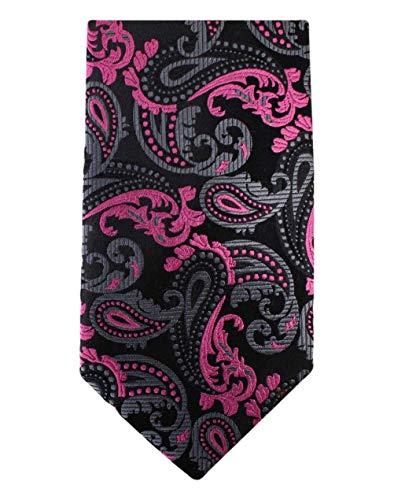 David Van Hagen Noir/Rose Paisley cravate de