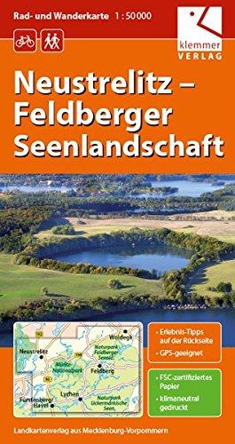 Rad- und Wanderkarte Neustrelitz - Feldberger Seenlandschaft: Maßstab 1:50.000, GPS-geeignet, Erlebnis-Tipps auf der Rückseite