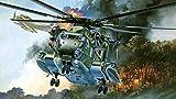 5D Pintura Diamante Bricolaje Completo Taladro Arte,helicóptero militar DIY cristales diamantes de imitación pintura pegado pintura por número kits de punto de cruz contado bricolaje Art Cra (30x45cm)