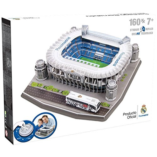 NANOSTAD Real Madrid Santiago Bernabeu Stadium 3D Puzzle by
