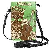 Tiki Bar vintage in pelle PU piccola borsa a tracolla per telefono cellulare borsa smartphone portafoglio con 1 tracolla borsa per le donne