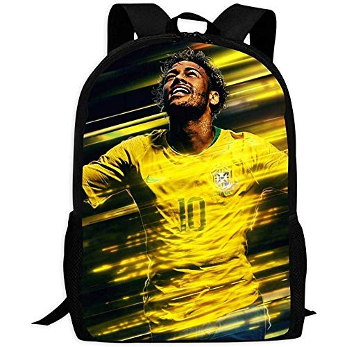 Rucksäcke Taschen Daypacks Wanderrucksäcke, Classic Backpack,Football Neymar Jr Backpack Fashion School Bag for Adult
