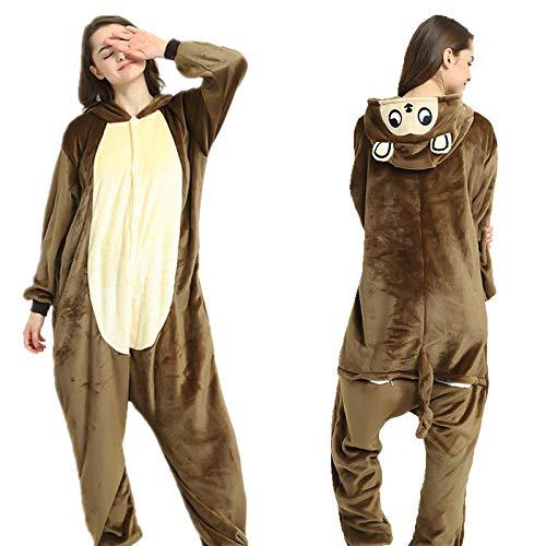 MA Pijama Mono Dorado Kigurumi Onesies Unisex Pijamas para Adultos Disfraces de Cosplay Mono de Animales-Mono Dorado_S