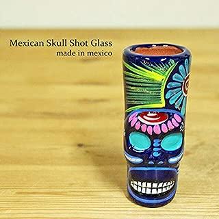 RUG&PIECE Mexican skull メキシカンスカル ショットグラス メキシコ製 (int-2205)