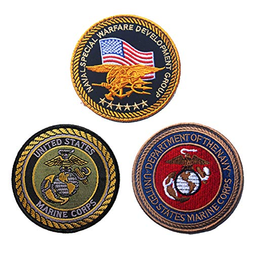 US Marine Corps Retired Military Gifts Patches for Jackets Hats Vests Flag 3 PCS