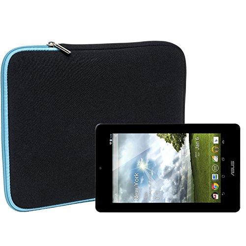 Slabo Tablet Tasche Schutzhülle für Asus Memo Pad HD7 ME173X Hülle Etui Case Phablet aus Neopren – TÜRKIS/SCHWARZ