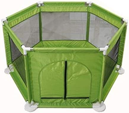 WANNA ME Baby Playpen Children s play fence infant toddler safety fence indoor baby home fence Strong And Durable Made From Non-To  color Green