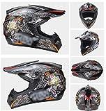 Adult Motocross Helmet BMX MX ATV Dirtbike Helmet Racing Adult Motorcycle ATV Off-Road Helmet Mountain Racing DOT ECE Certified Motorcycle Unisex Anti-Collision Helmet