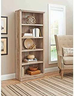 Supernon Better Homes and Gardens Crossmill Collection 5-Shelf Bookcase, Weathered