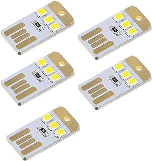 Auton LEDライト 超ミニUSBランプ パソコンランプ USB接続 ミニポケットカードラン キーボードランプ ミニランプ 低電力2835チップ ナイトライト ポケットカードランプ用 (ホワイト)