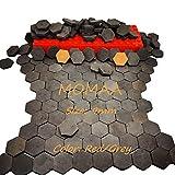 MOMAA Miniature Brick 1/16 - Miniature Hexagonal Brick Mini Scale Wall Bricks Model Building Set Construction Set Sand Table Micro Landscape Accessories DIY Dollhouse Bricks Diorama (Gray)
