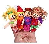 JSJJAEA Handpuppen Hand Finger Puppen Tier Familie Plüsch Set Finger Spielzeug Puppen Tierpuppen Cartoon Kind Baby Geschichte Fingerpuppe Spielzeug Lernspielzeug (Color : F)