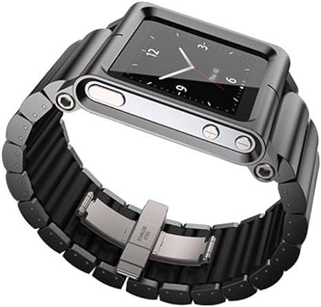 Lunatik Lynk Reloj Correa De Muñeca Para Ipod Nano 6 G Color Negro Negro
