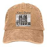 were Men Vintage Adjustable Casquette Design Cath¨¦drale Notre Dame De Paris Cool Baseball Hat, Gray Sombreros y Gorras