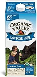 Organic Valley, Lactose Free, 2%, Half Gallon, 64 fl oz