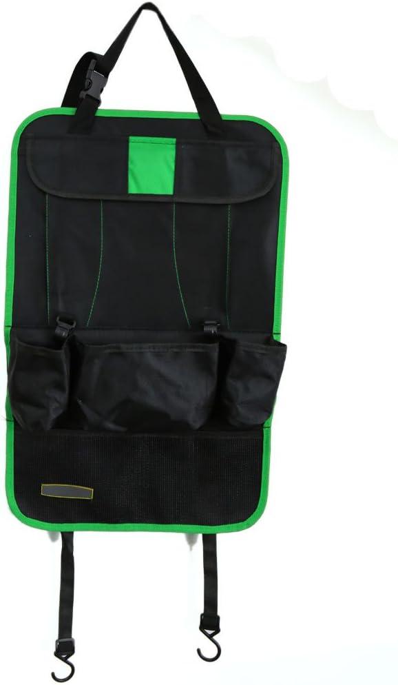 uxcell Green Black Auto Car Seat Back Multi-Pocket Travel Storage Bag Organiser Holder