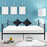 Bonnlo Black Metal Daybed Frame Twin,Frame for Daybed with Steel Slat Support, Rod Iron Daybed Frame for Living Room Guest Room