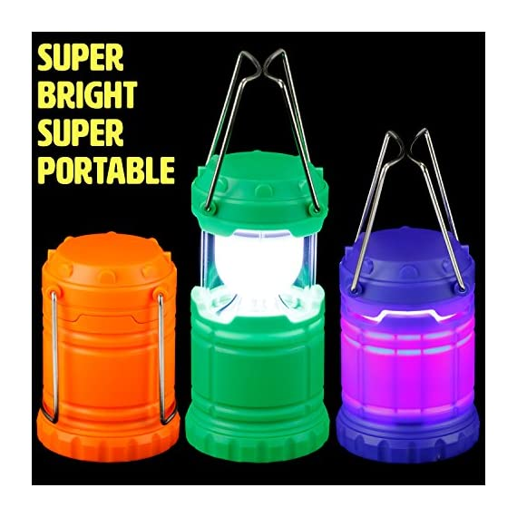Dawhud direct super bright mini collapsible led lantern (6 pack) 2 this pack features collapsible super bright mini led lantern the advanced collapsible lightweight led lantern is easy to carry and store. Perfect for party favors, giveaway at birthday parties, camping, hiking and power outages etc.