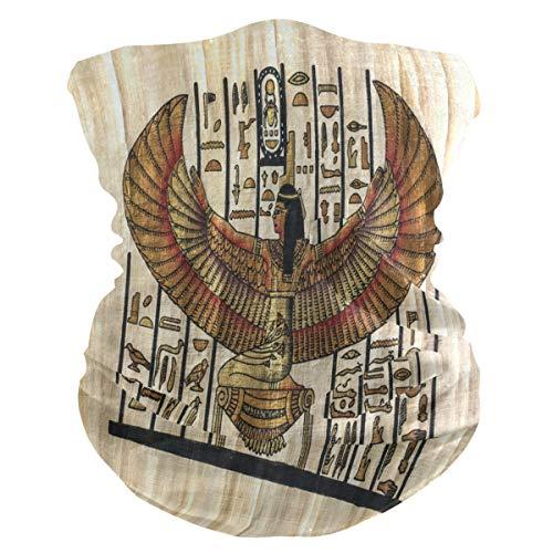 QMIN Bandeau de religion égyptienne Parchemin bandana Visage Protection solaire Masque Cagoule magique pour femme Hommes Garçons Filles