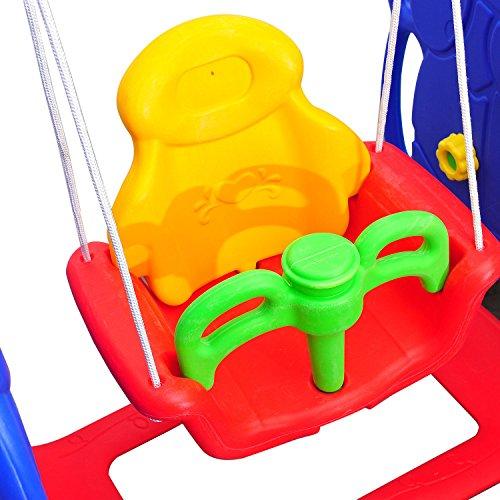 HOMCOM Kinderrutsche Kinder Rutsche Spielzeug Slide Gartenrutsche Babyrutsche (Elefantrutsche mit Schaukel) - 7