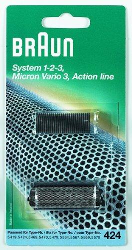Braun Scherteile Kombipack 424 für Rasierer System 1-2-3, micron vario3, Action line