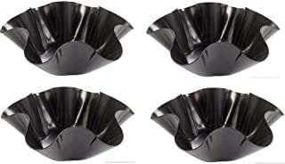 Tortilla Pan Set Non Stick Steel Taco Salad Bowl Makers Tortilla Shell Maker Extra Thick Steel Set of 4 By Chefcaptain