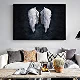 QWESFX Modern Angel Wings Carteles e Impresiones de Pared Abstract Angel Feather Pop Art Canvas Decoración para el hogar Imágenes para la Sala Cuadros (Imprimir sin Marco) A2 40x80CM