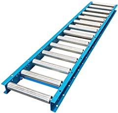 12″ Overall width (from outside of frame to outside of frame) 10″ between frames (i.e the widest product than can move along the conveyor) 5′ Overall length with Galvanized 1.5″ diameter steel rollers Roller centers of 6″ between rollers. Steel frame...